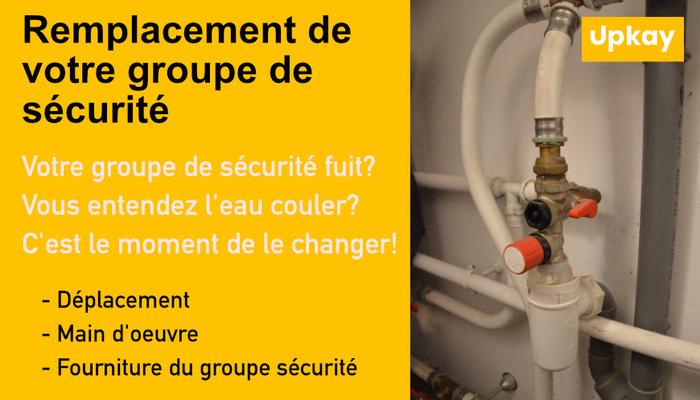 Remplacement groupe de sécurité ballon ECS Nancy 125€